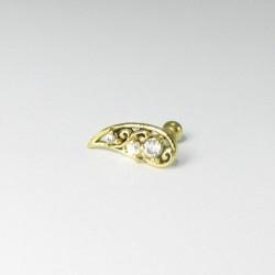 Piercing de Orelha - Tribal Dourado - 6ORE314