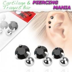 Piercing para Orelha Tragus - Ponto de Luz - 6ORE339