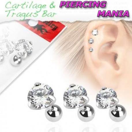 Piercing para Orelha ou Tragus - Ponto de Luz - 6ORE340