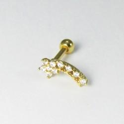 Piercing para Orelha Banhado a Ouro com Cometa Divino - 6ORE356