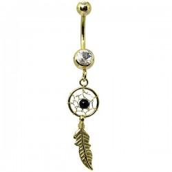 Piercing de Umbigo – Dourado - Dreamcatcher – 1DOU139
