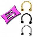 Piercing para Nariz - Ferradura - 2NAA60