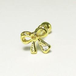 Piercing de Orelha com Lacinho Dourado - 6ORE390