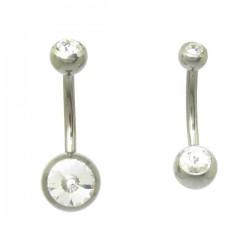 Piercings de Umbigo em Titânio Natural - Simples - 1SIM102