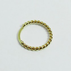 Piercings de Nariz - Argolinha Náutica em Ouro Amarelo 18k - 2NOU20