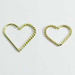 Piercing de Orelha Daith Coração em Ouro 18k - 6ORE427