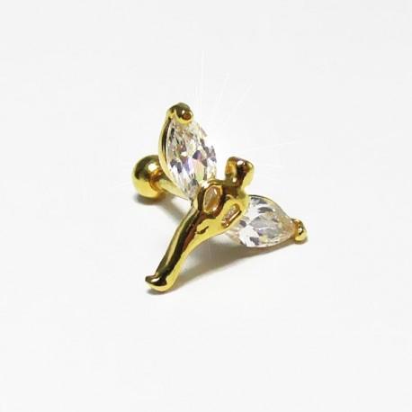 Piercing de Orelha - Fada - Dourado - 6ORE445