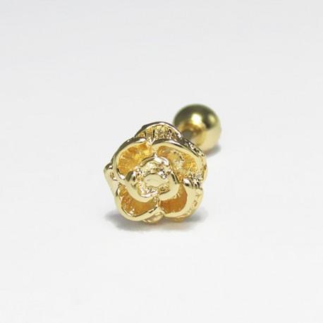 Piercing de Orelha - Rosa - Dourado - 6ORE446