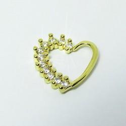 Piercing de Orelha Daith Dourado com Cristais - 6ORE451