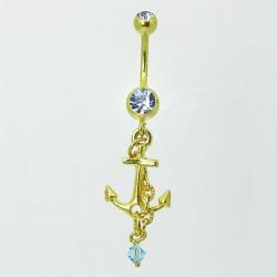 Piercing de Umbigo Dourado - Náutico - Âncora - 1DOU141