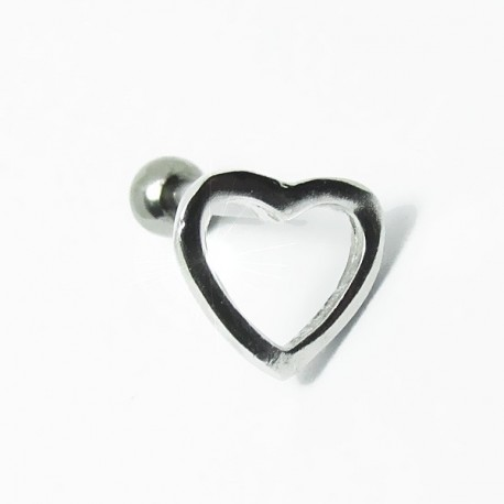 Piercing para Orelha - Coração Vazado - Joia Blindada - 6ORE474