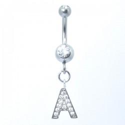 Piercings de Umbigo - Alfabeto - 1ALF03