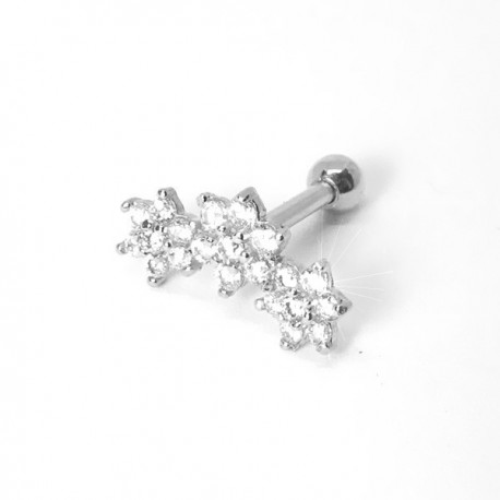 Piercing de Orelha - Cluster Divino com Zircônia - 6ORE520