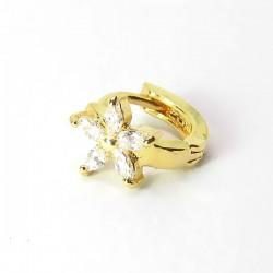 Piercing de Orelha Argolinha Dourada - Margarida - 6ORE534