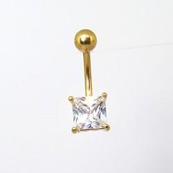 Piercing Simples de Umbigo - Dourado - Zircônia - 1SIM104