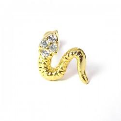 Piercing de Orelha - Serpente Dourada - 6ORE559