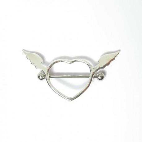 Piercing para Mamilo - Coração com Asas - 14MAM12