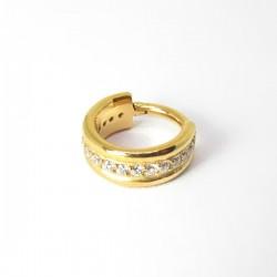 Piercing de Orelha Argolinha Clicker 100% Aço - PVD Gold - 6ORE584