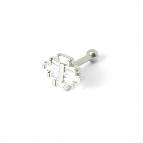Piercing de Tragus - 100% Aço - Art Deco - 7TRG81
