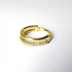 Piercing de Orelha Conch Argolinha Clicker Double SW - 100% Aço PVD Gold- 6ORE609