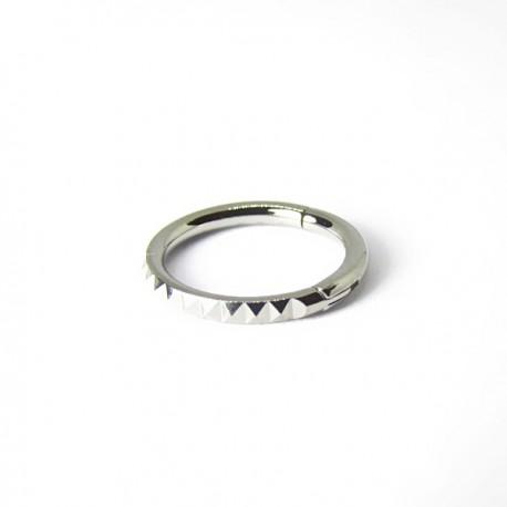 Piercing de Orelha Argolinha Clicker - Pyramid - 6ORE613