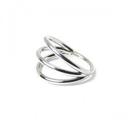 Piercing Conch ou Helix - Argolinha Clicker Tripla Cravejada - 100% em Titânio - 6ORE620