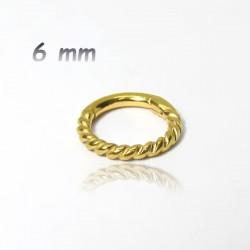 Piercing Mini Argola Náutica Clicker Articulado em Aço - PVD Gold ou Rosé - 6ORE630