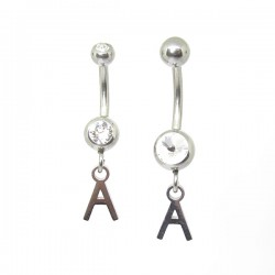 Piercings de Umbigo - Alfabeto - 1ALF04
