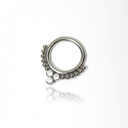 Piercing Daith ou Septo Argolinha Clicker Titânio Fashion Indiano - 6ORE631