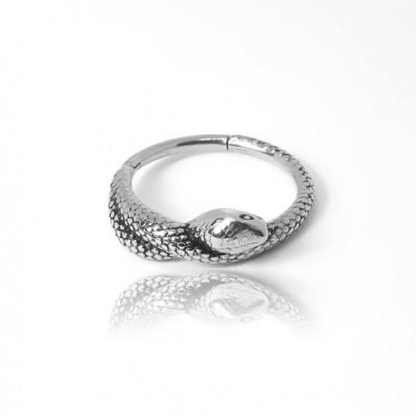 Piercing de Orelha - Serpente Conch Clicker em Aço - 6ORE636