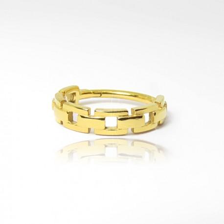 Piercing de Orelha - Chain Style - Conch Clicker em Aço PVD Gold - 6ORE637
