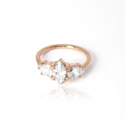 Piercing de Orelha Conch Argolinha Clicker Set W. Cubic - 100% Aço - PVD Rosé - 6ORE590