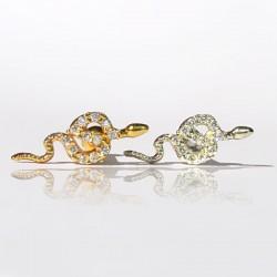 Piercing de Orelha - Serpente em Prata - 6ORE643