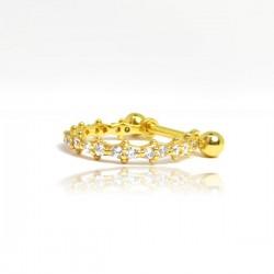 Piercing de Orelha Conch em Prata Banhado a Ouro - 6ORE646