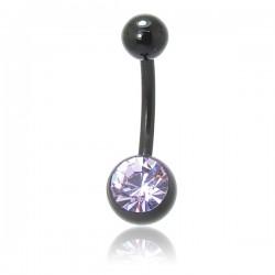 Piercing de Umbigo - BIOFLEX PRETO - 1SIM113