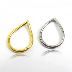 Piercing Orelha ou Septo Argolinha Clicker V Shaped - 100% em Aço Cirúrgico - 6ORE661
