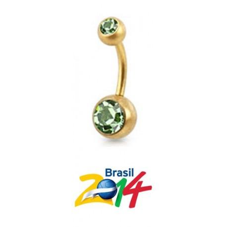 Piercing de Umbigo - Dourado - 1DOU92
