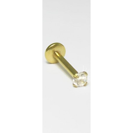 Piercings Tragus PVD Gold - 7TRG29