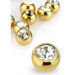 Outros Piercings - Bolinhas Douradas - 17BOL01