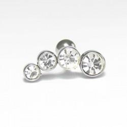 Piercing de Orelha Microbell Cluster Aço - 6ORE294