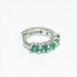 Piercing de Orelha de Argolinha Verde - 6ORE302