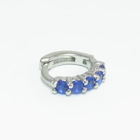 Piercing de Orelha de Argolinha Azul - 6ORE304