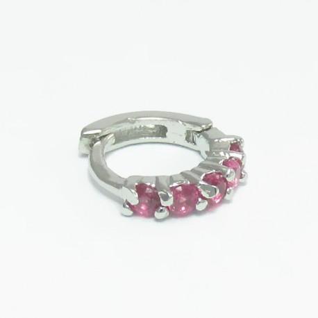 Piercing de Orelha de Argolinha Rosa - 6ORE305