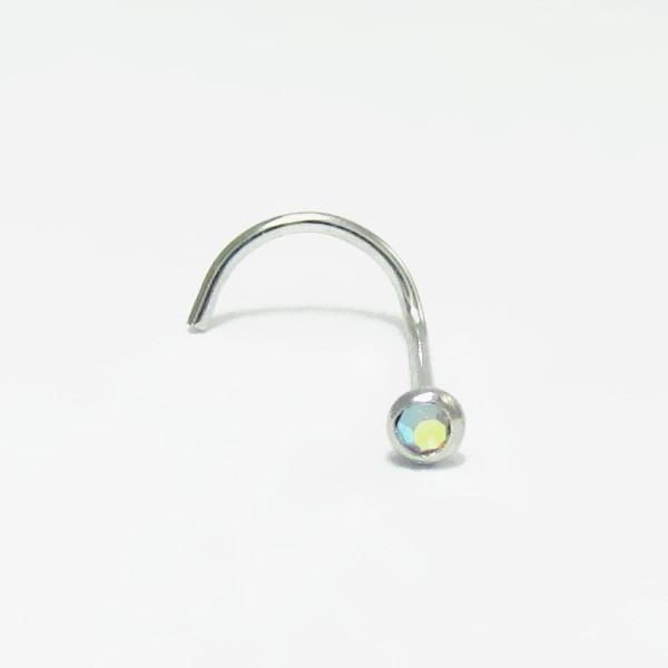 4bf33f9ec499 Piercings de Nariz - Ouro Branco 18k - 2NOU17 - Piercing Mania